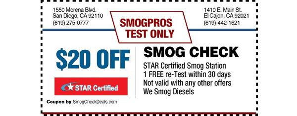 $20 Smog Check Coupon - STAR Certified - Smog Check Near Me